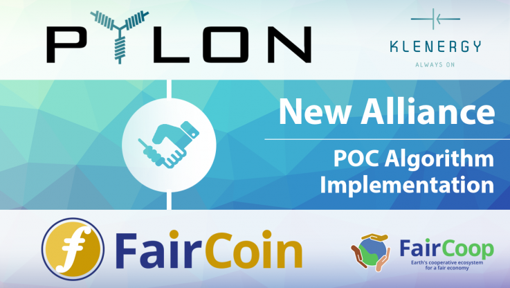 <p>06/9/2017   Benicarlo, Spain.   Today, we are delighted to announce our collaboration with Faircoop and FairCoin! Pylon Network and Faircoop are joining forces under their common objective of strengthening local communities through a decentralized network of governance, at a global scale.   In practice, this collaboration means two things: (i) that it will be possible to buy Pylon-Coins, directly using FairCoins, through Pylon Network platform and; (ii) that the Proof-of-Cooperation algorithm will be integrated in [&hellip;]</p>