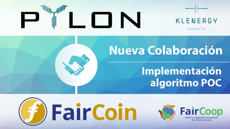 <p>&nbsp; 06/09/2017 Benicarló, España Hoy, estamos encantados de anunciar nuestra colaboración con Faircoop y FairCoin! Pylon Network y Faircoop están uniendo fuerzas bajo el objetivo común de fortalecer las comunidades locales a través de una red descentralizada de gobernanza, a escala global. Esta colaboración significa prácticamente dos cosas: (i) que será posible comprar Pylon-Coins, usando [&hellip;]</p>