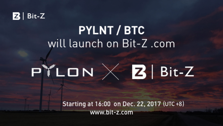 <p>PYLNT/BTC hit on Bit-Z Exchange 22 Dec ( 09:00 CET ) Dear Pylon Token-holders! We are delighted to announce a very-much-anticipated update regarding Pylon Token (PYLNT). BitZ Exchange has confirmed that PYLNT deposit will be opened at 9am CET, on the 22nd December. The exchange pair will be PYLNT/BTC and the the initial price on [&hellip;]</p>