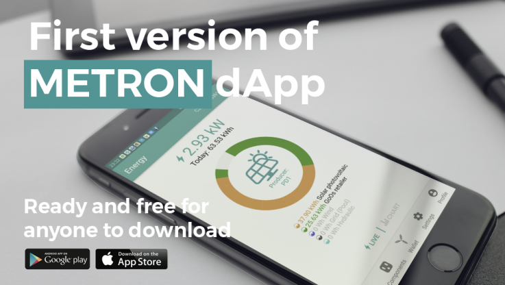 <p>Today we are very excited to be announcing the release of our METRON distributed app (dApp) for Android and iOS devices! After months of development by our tireless dev team the first version of METRON dApp is ready and free for anyone to download. &nbsp; And we are very happy for that! Because on one [&hellip;]</p>