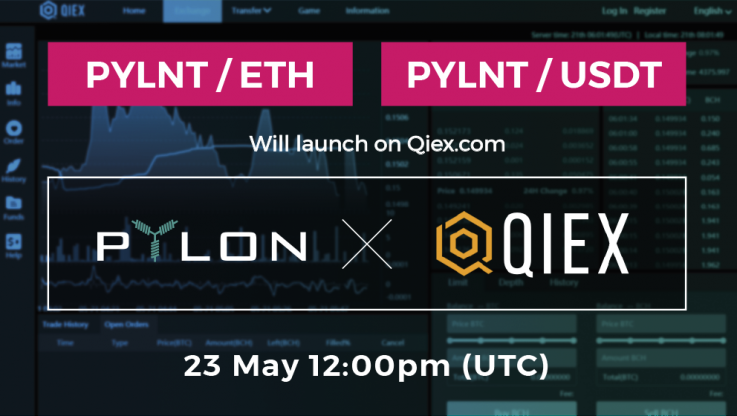 <p>Happy to announce the addition of PYLNT on QIEX exchange! The market will open on Wednesday May 23 at 12:00 (UTC). This is the third exchange to be listing Pylon Token (PYLNT). QIEX is an exchange based on Asia. Currently, the exchange platform has only 15 projects listed, however, QIEX itself affirms that all the projects […]</p>