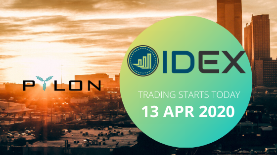 <p>The time has come! Later today, Pylon Network (PYLNT) will be listed on IDEX. Starting from today, IDEX customers will be able to buy, sell, and trade (PYLNT) safely and securely on the IDEX exchange. Some Important Information The official launch of $PYLNT trading will be first communicated by IDEX, via their social media & […]</p>